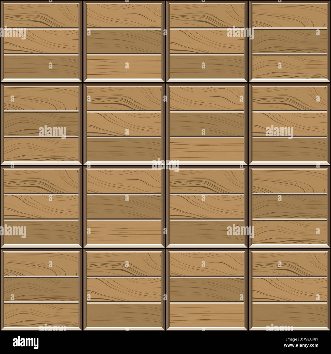 Abstract seamless pattern of brown wood parquet floor tiles.Design