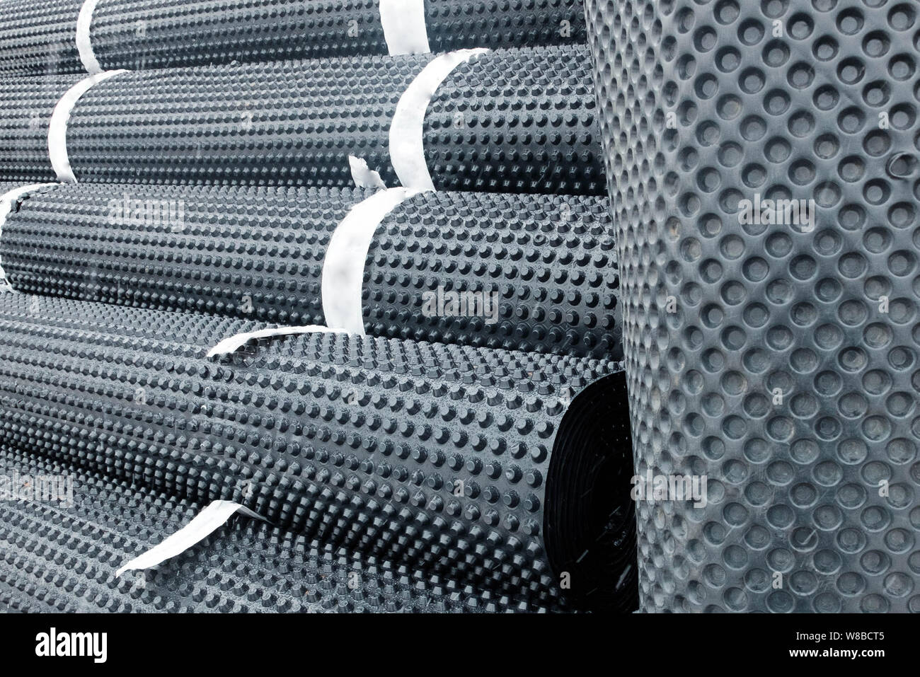 Flat Roofing Membrane Stock Photos & Flat Roofing Membrane