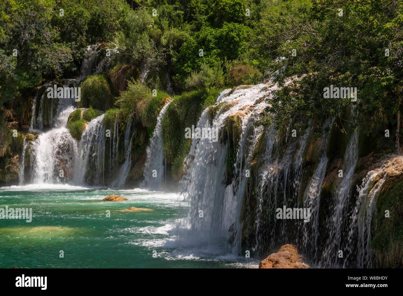 Skradinski Buk waterfalls in the Krka National Park, Croatia Stock Photo