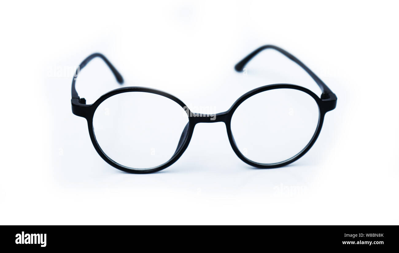 Black Eye Glasses Isolated On White Background Eye Glasses