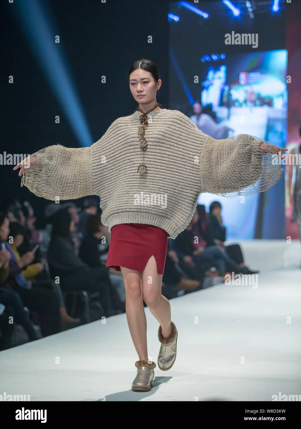 A Model Displays A Creation By Graduates Of 2016 Master Of Art And Master Of Fine Arts Of Beijing Institute Of Fashion Technology During A Graduation Stock Photo Alamy