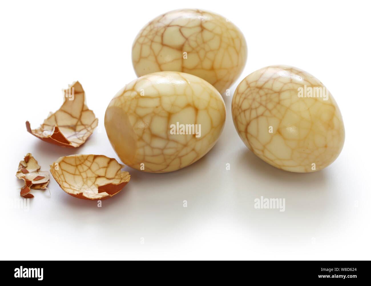 homemade tea eggs, Taiwanese food Stock Photo