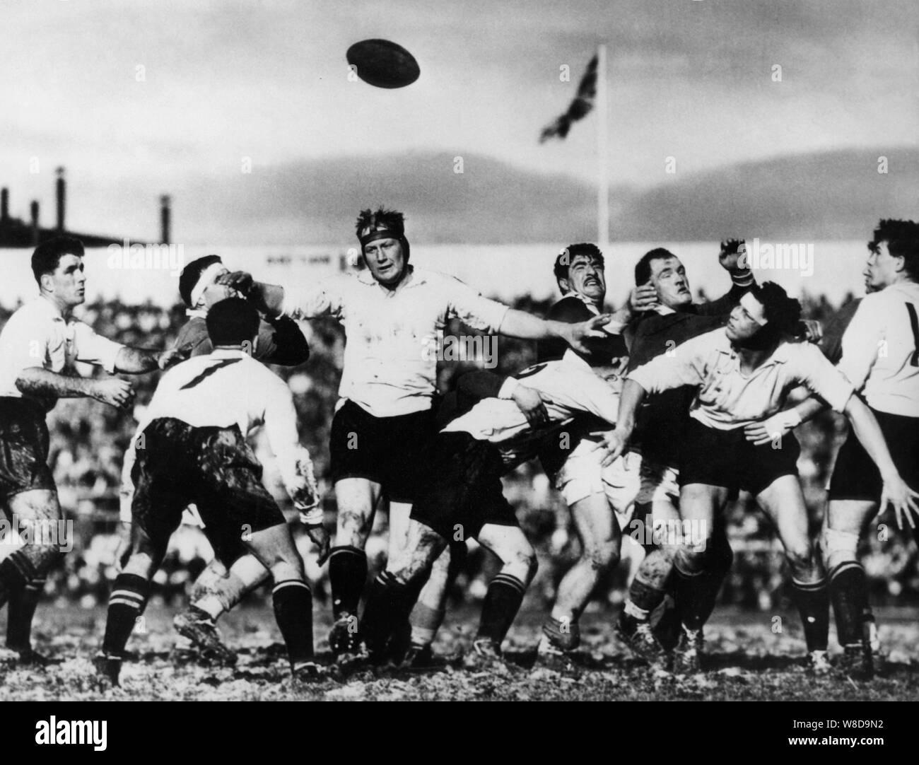 Oceania, New Zealand, Rugby, France beats Otago, 1961 Stock Photo