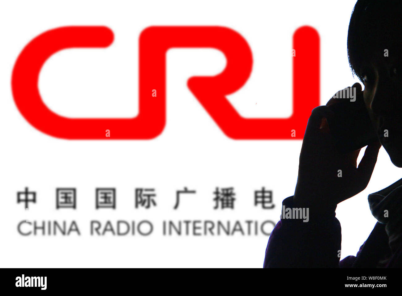 FILE--A Chinese man talks on his mobile phone in front of a logo ...