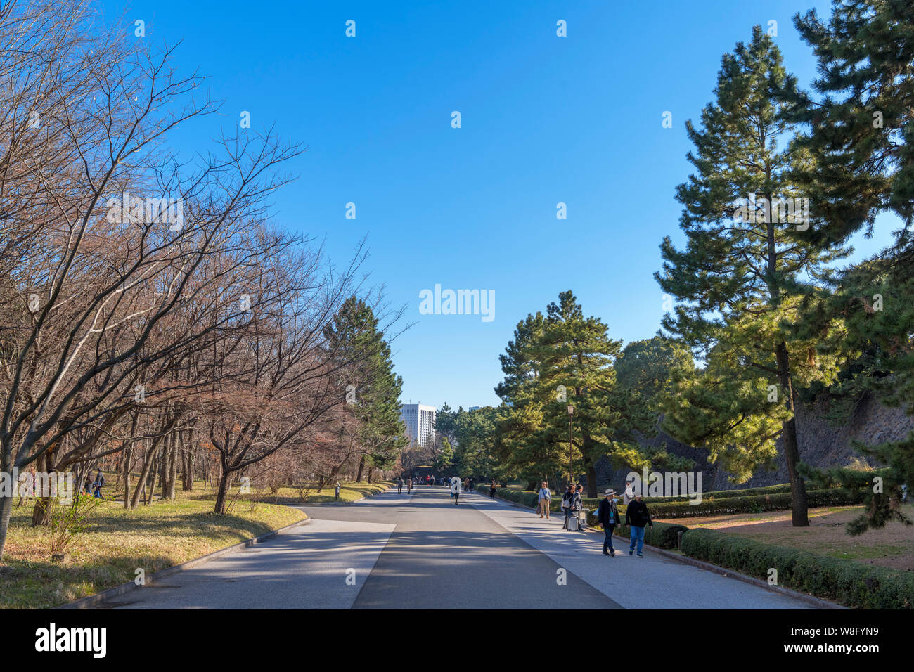 East Gardens of the Imperial Palace, Tokyo, Japan Stock Photo