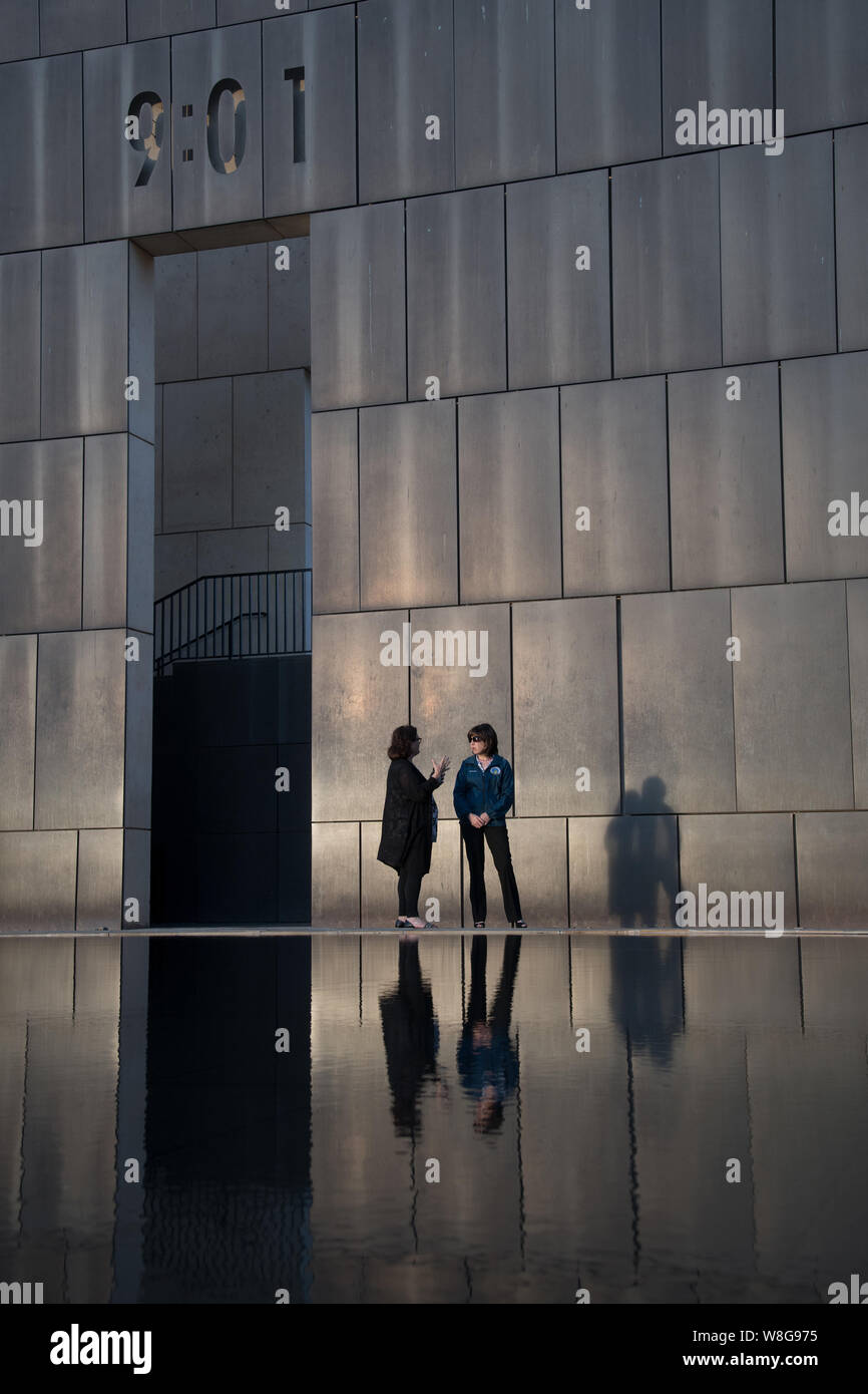 The Oklahoma City National Memorial and Museum honoring those who died in the bombing of the Alfred P. Murrah Federal Building in Oklahoma City, OK Stock Photo