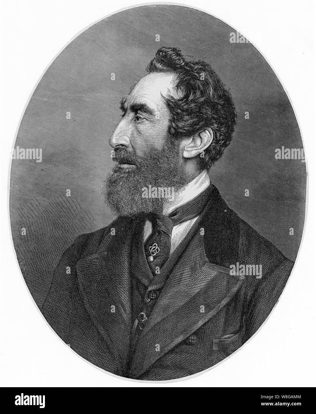 EDWARD BULWER-LYTTON (1803-18973) English writer and politician Stock Photo