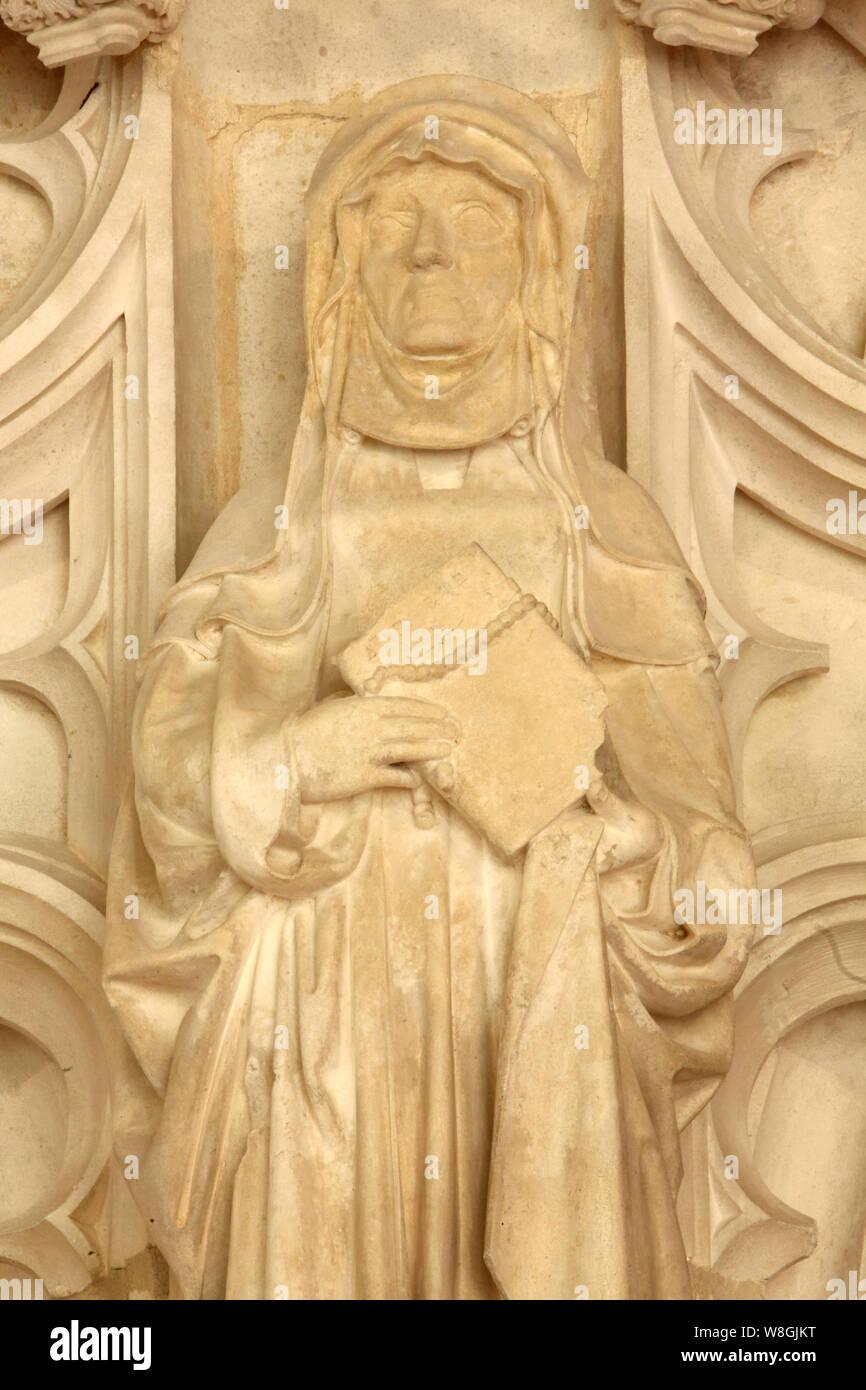 Eglise Saint-Nicolas-de-Tolentin de Brou. Bourg-en-Bresse. / Saint-Nicolas-de-Tolentin Church of Brou. Bourg-en-Bresse. Stock Photo