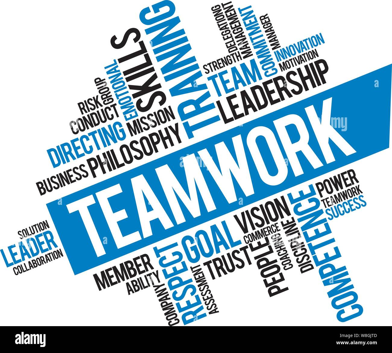 Office Team Work Strategy Tips Inspirational Quotes And Motivational Art Lettering Composition Blue Vector Stock Vector Image Art Alamy
