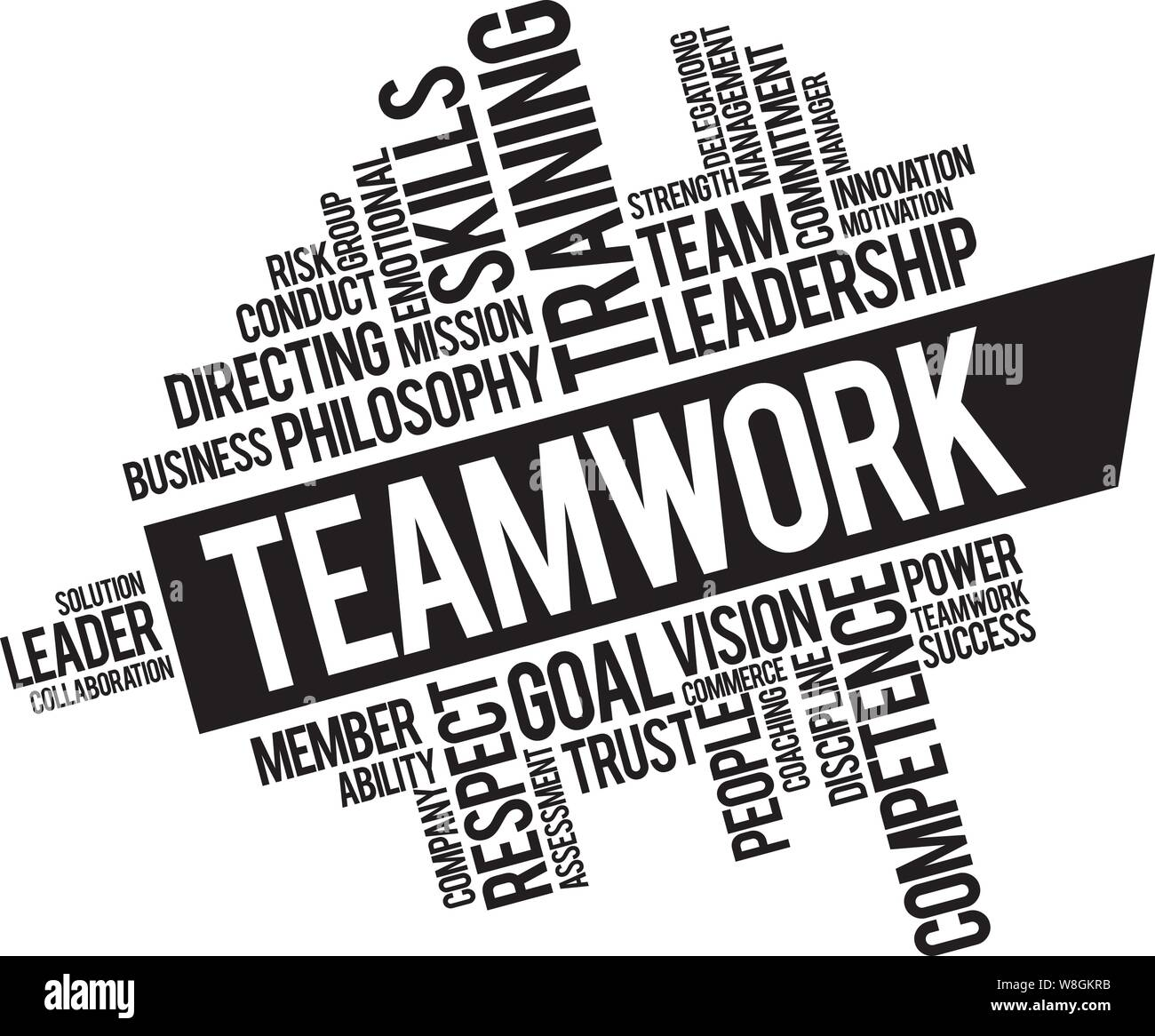 Office Team Work Strategy Tips Inspirational Quotes And Motivational Art Lettering Composition Black Vector Stock Vector Image Art Alamy