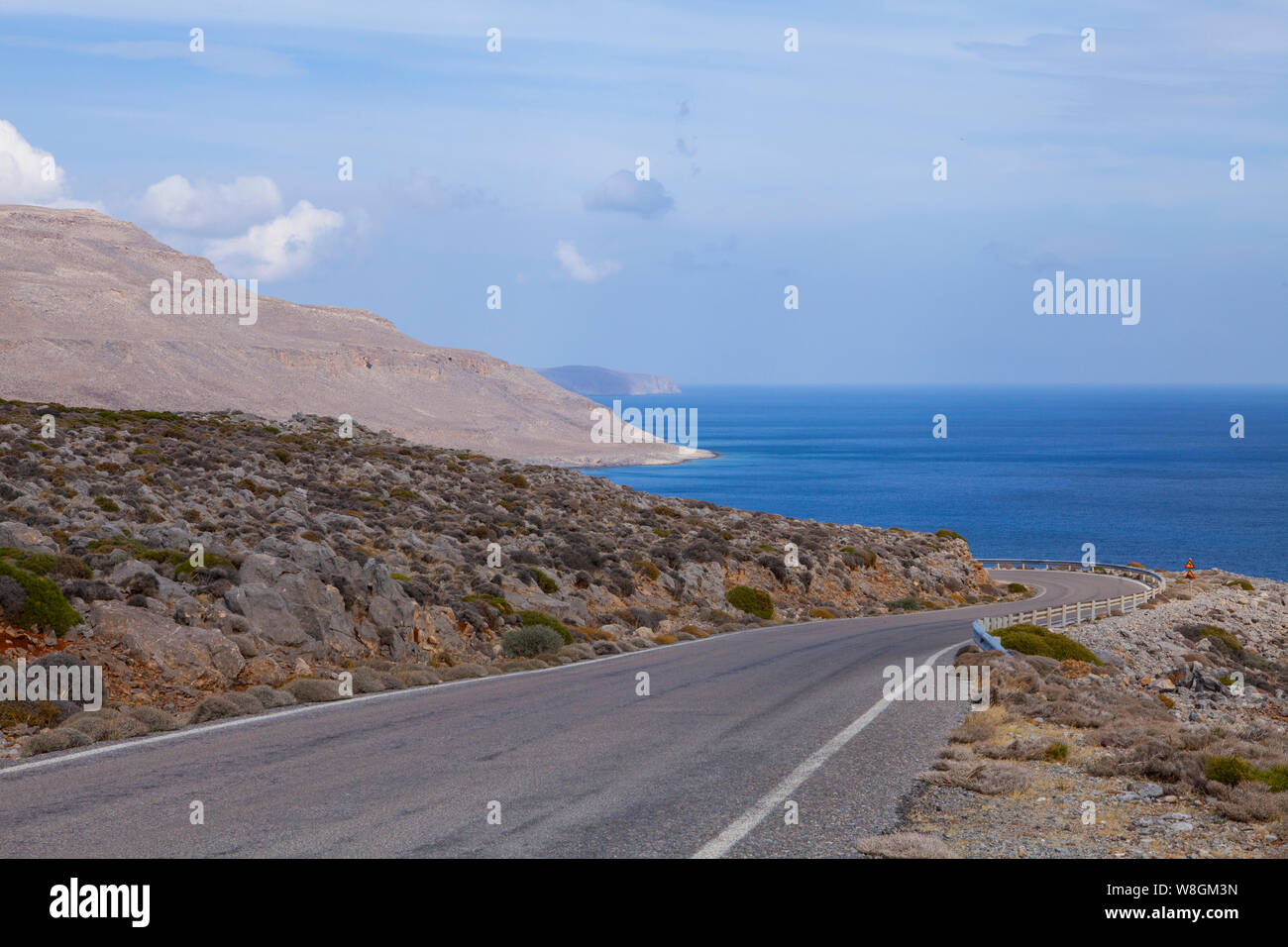 Image of road in the mountains. Crete, Greece Stock Photo