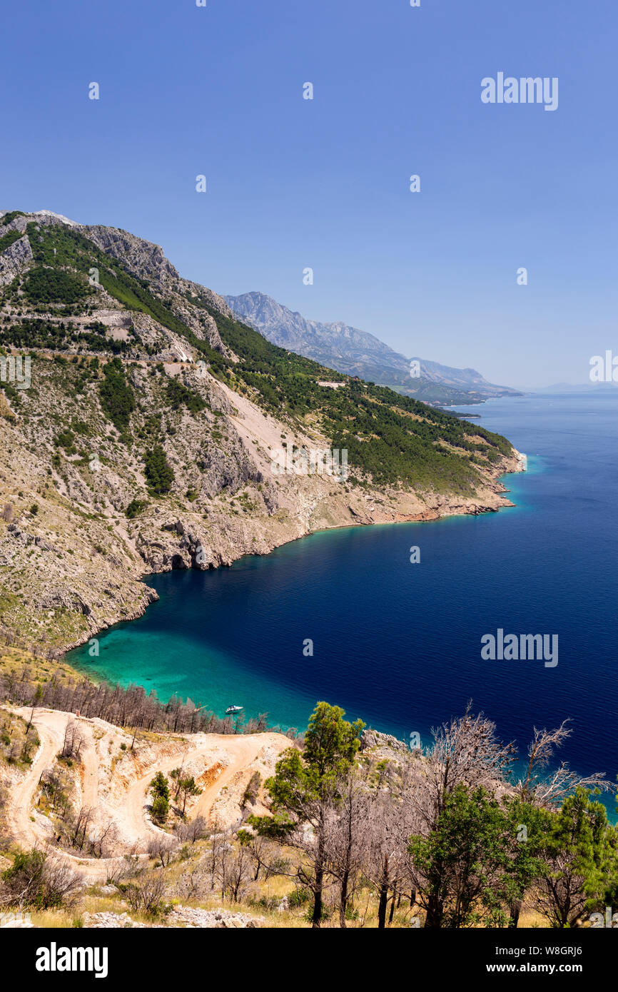 Cliffs on the Adriatic coast of Croatia at Pisak Stock Photo