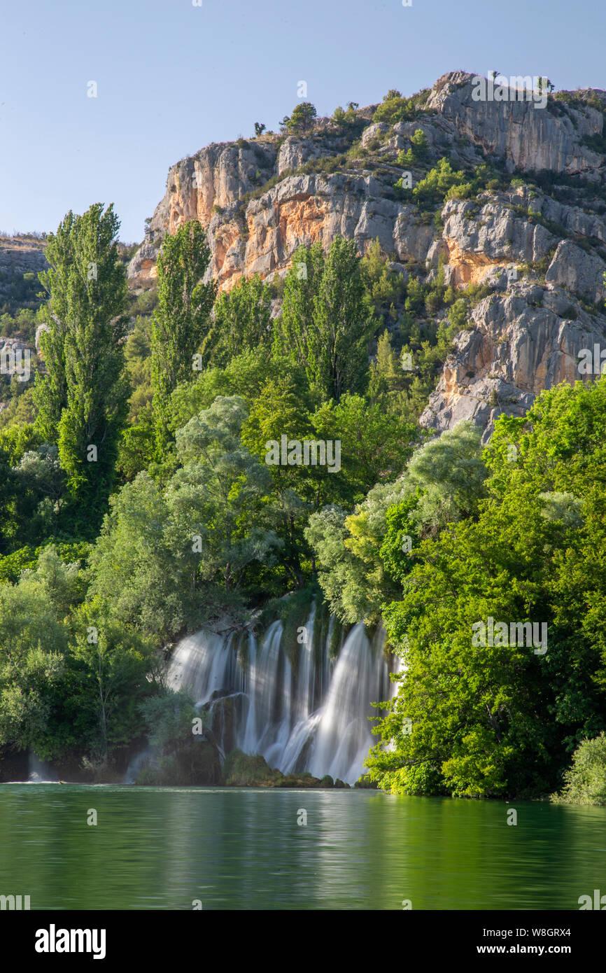Roski Slap waterfall in the Krka National Park, Croatia Stock Photo