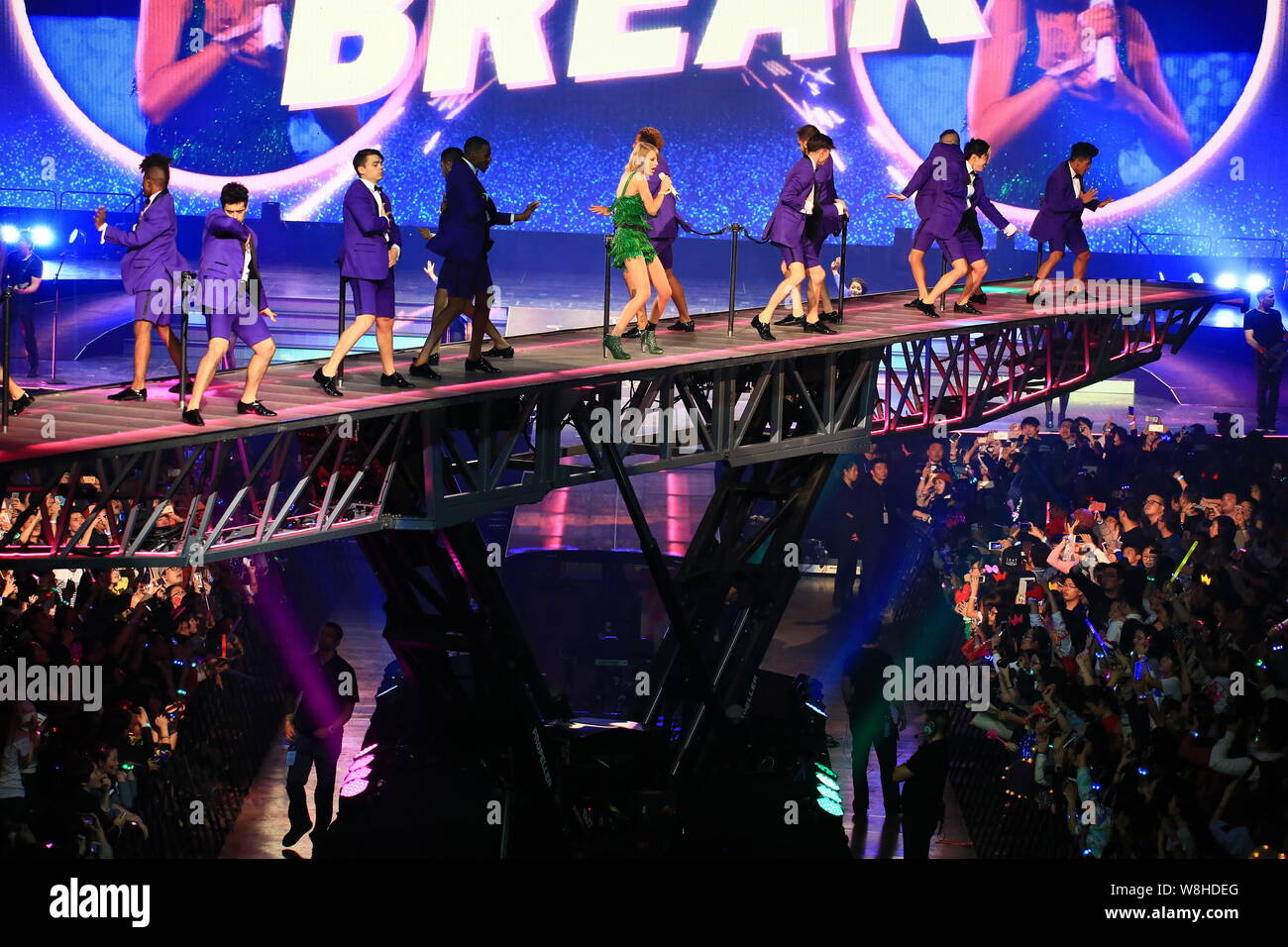 American Singer Taylor Swift Center Performs At Her 1989 World Tour Concert In Shanghai China 11 November 2015 Stock Photo Alamy