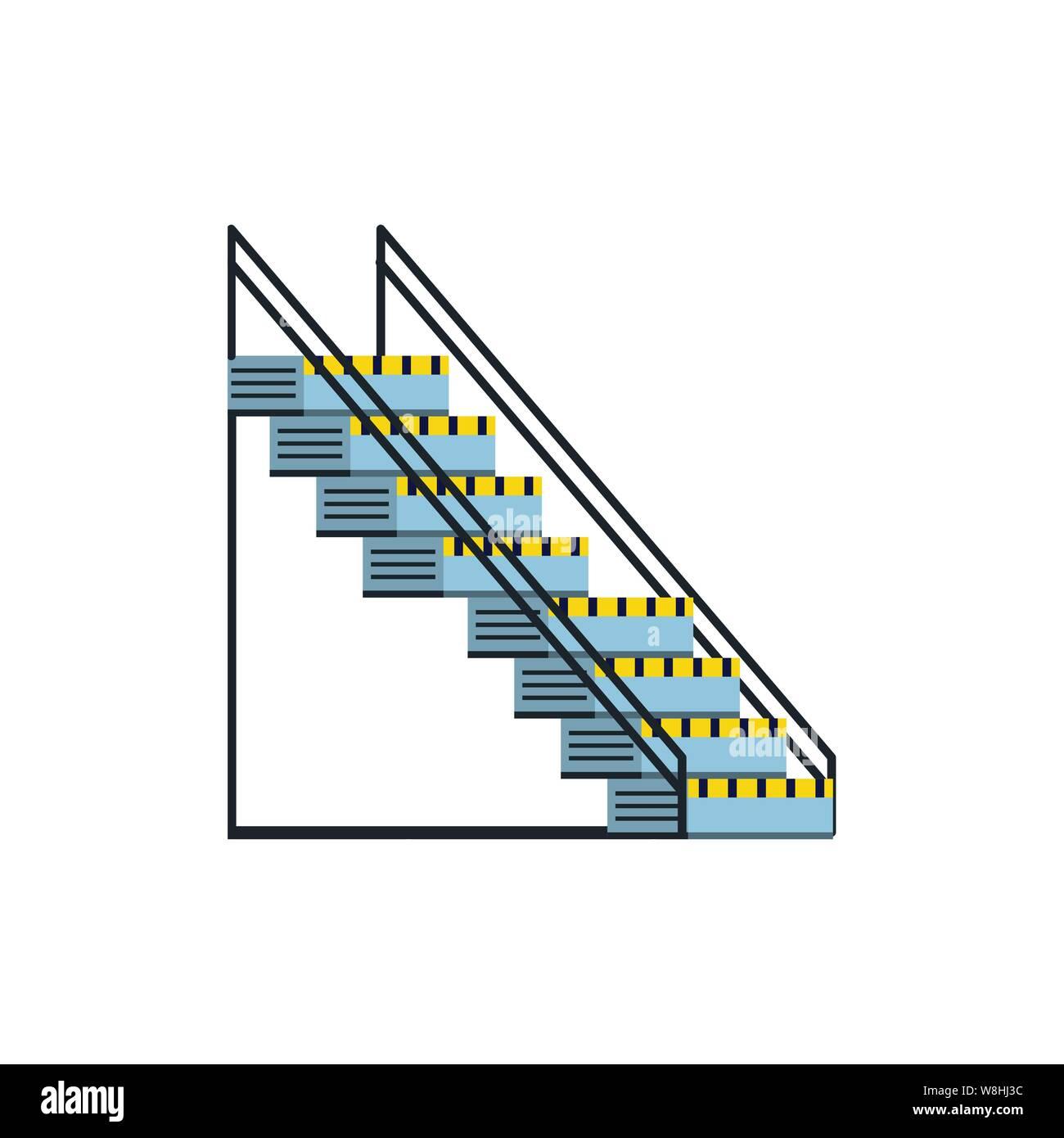 industrial factory stairs scene vector illustration design Stock Vector