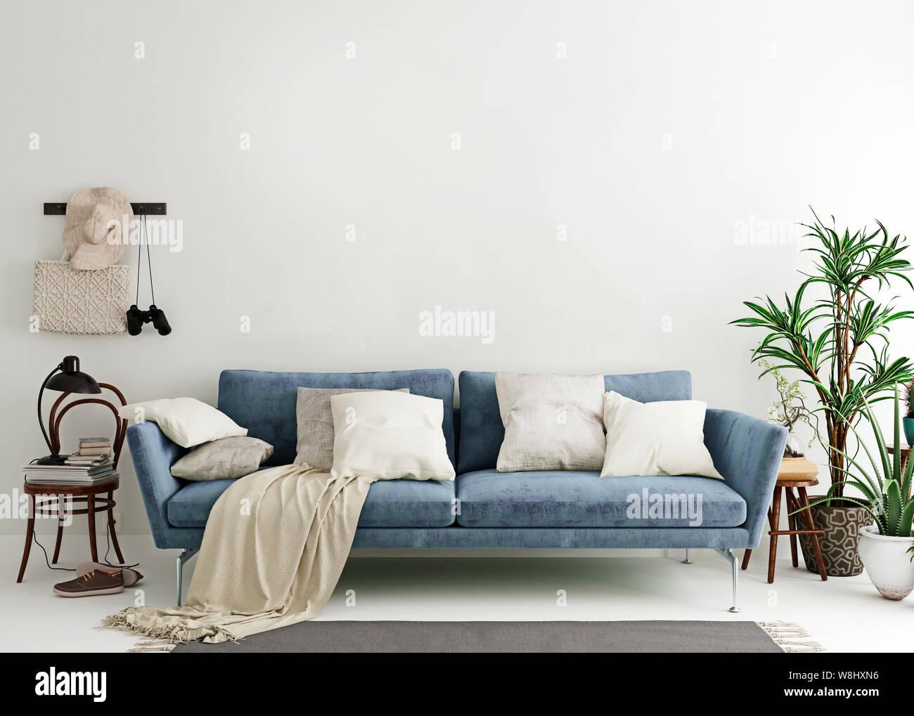 Amazing Mock Up Wall In Steel Blue Modern Interior Background Inzonedesignstudio Interior Chair Design Inzonedesignstudiocom