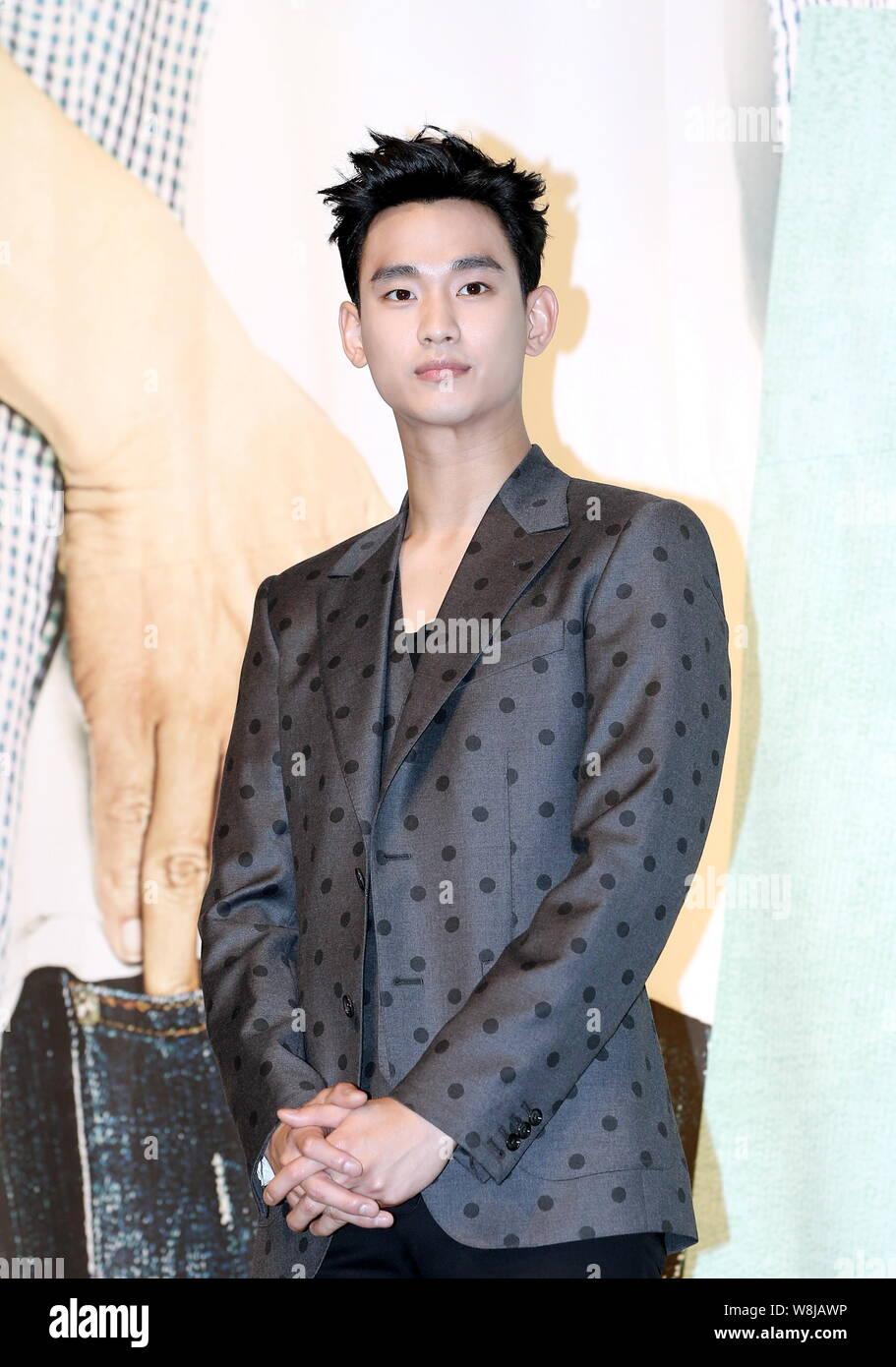 South Korean actor Kim Soo-hyun poses at a press conference