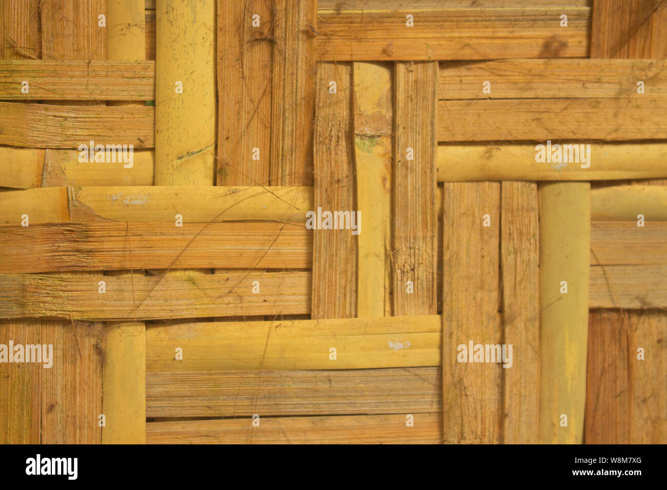 Close up Woven Bamboo Detail Texture Stock Photo