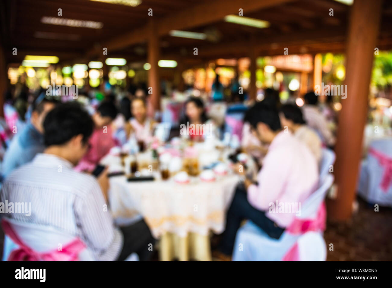 Abstract blur people in party, sociability lifestyle concept Stock Photo
