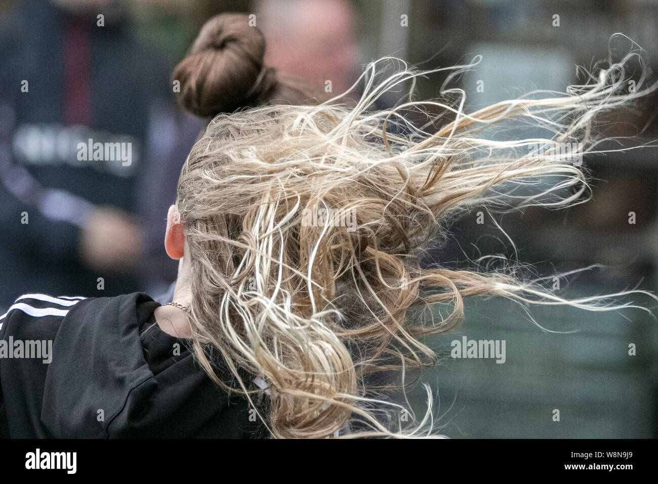 Windswept Hair Wind Blown Bad Hair Day Windy Weather Storm Stormy Day Landscape Windswept Hair Woman