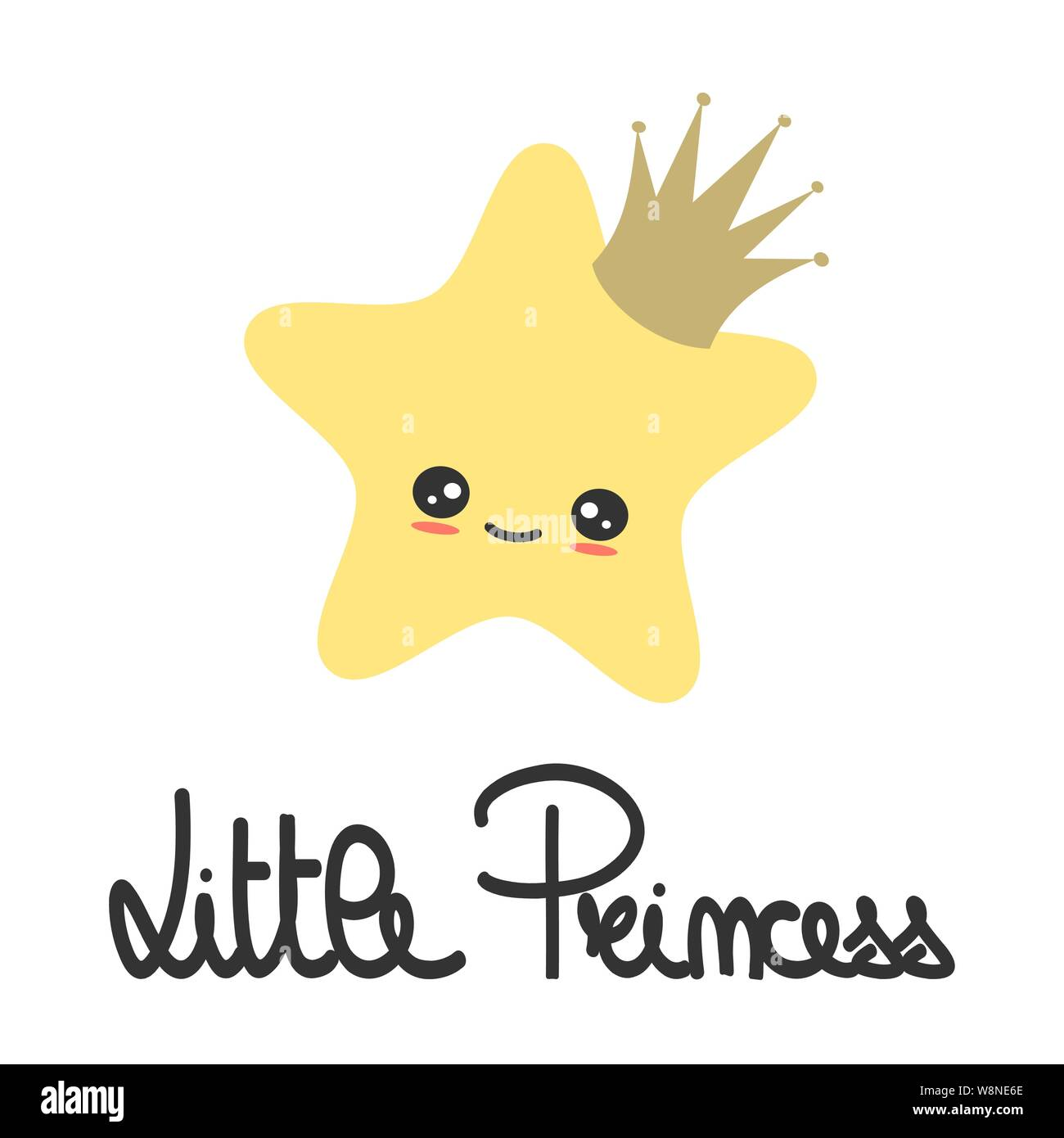 Cute Hand Drawn Lettering Little Princess Slogan With Cartoon Star With Crown Vector Illustration For Kids Poster And Baby Room Decor Stock Vector Image Art Alamy Check out our crown cartoon selection for the very best in unique or custom, handmade pieces well you're in luck, because here they come. https www alamy com cute hand drawn lettering little princess slogan with cartoon star with crown vector illustration for kids poster and baby room decor image263544918 html