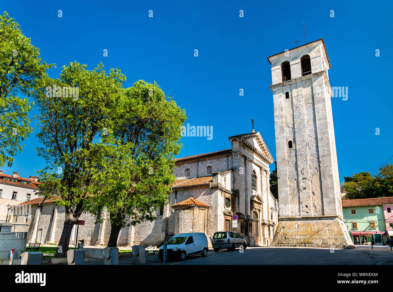 The Pula Cathedral in Croatia Stock Photo