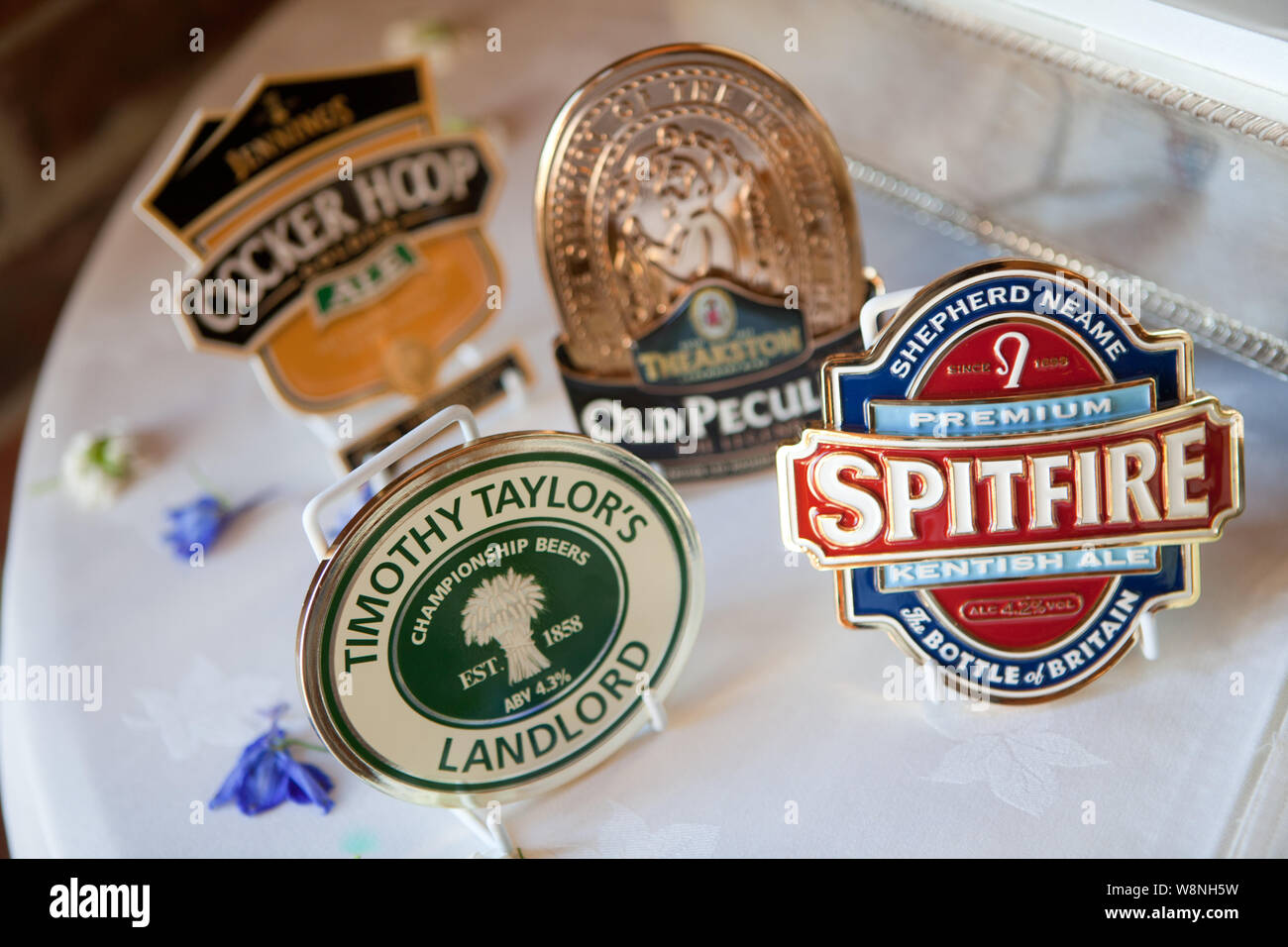A Selection of Beer Mats Stock Photo