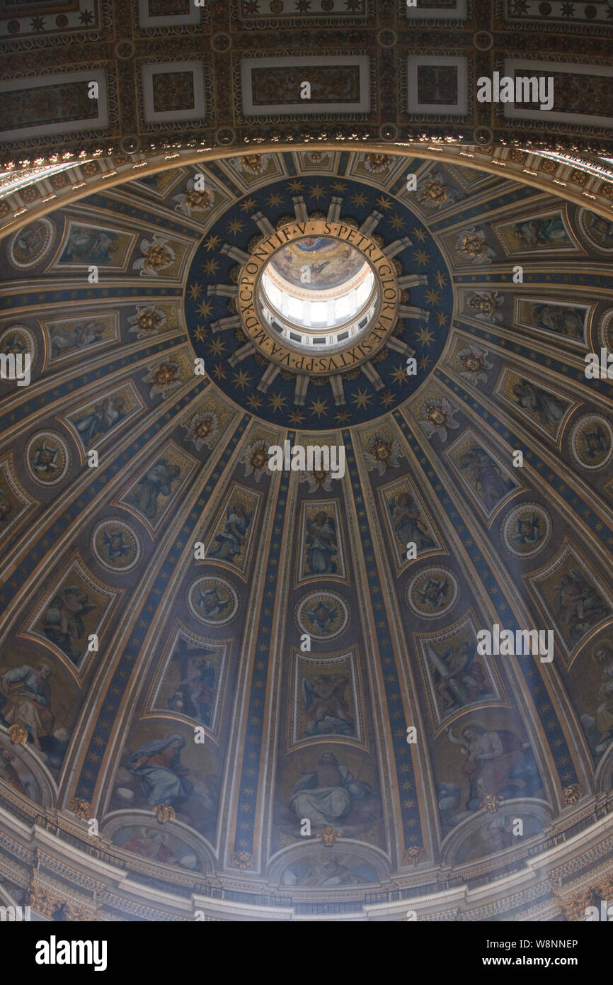 Ornate Painted Ceilings, Rome, Italy Stock Photo