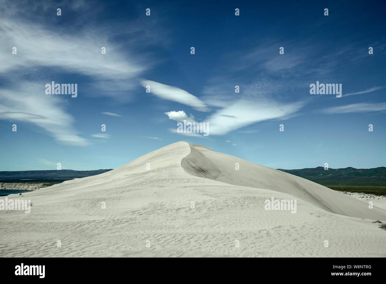 WA17206-00...WASHINGTON - Sand dune in the Hanford Reach National Monument. Stock Photo
