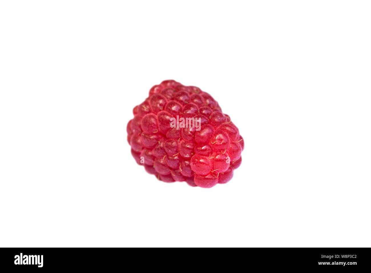 Fresh raspberry isolated on a white backgroundand. Raspberry isolated. Raspberry on white. Raspberries. Stock Photo