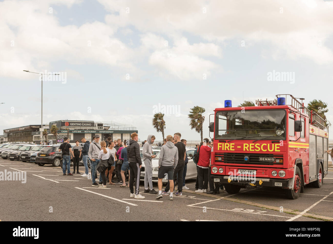 Southend on Sea, UK. 10th Aug, 2019. Friends and family of Cian Daly, one of five people who passed away at the end of July in suspected drugs-related deaths in South Essex, meet for a memorial ride on Southend seafront before heading to Leigh on Sea for a balloon release. Penelope Barritt/Alamy Live News Stock Photo