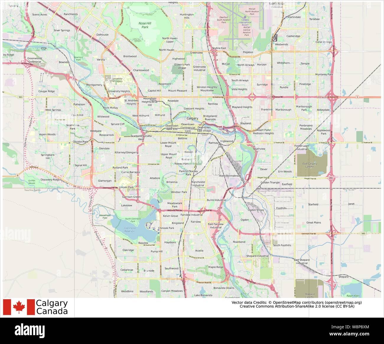 Calgary,Canada,North America Stock Vector Art & Illustration ... on northwest territory map america, pacific northwest coast of n america, calgary map world, calgary map usa, west coast of north america, map of northwest america,