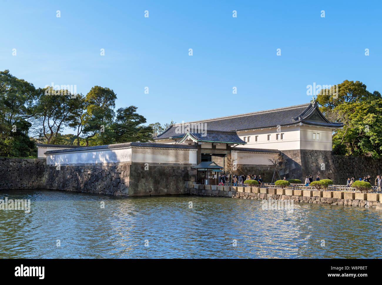 The Ōte-mon Gate, an entrance to the East Gardens of the Imperial Palace, Tokyo, Japan Stock Photo