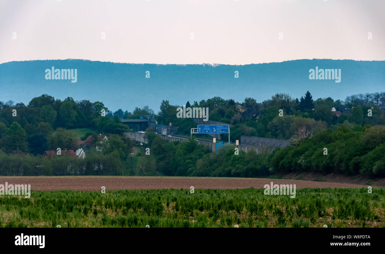 The part of Bad Oeynhausen city in Germany Stock Photo
