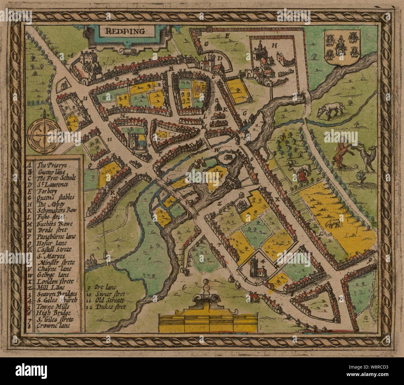 OLD COUNTY MAP OF GLOUCESTERSHIRE 1611 BY JOHN SPEED