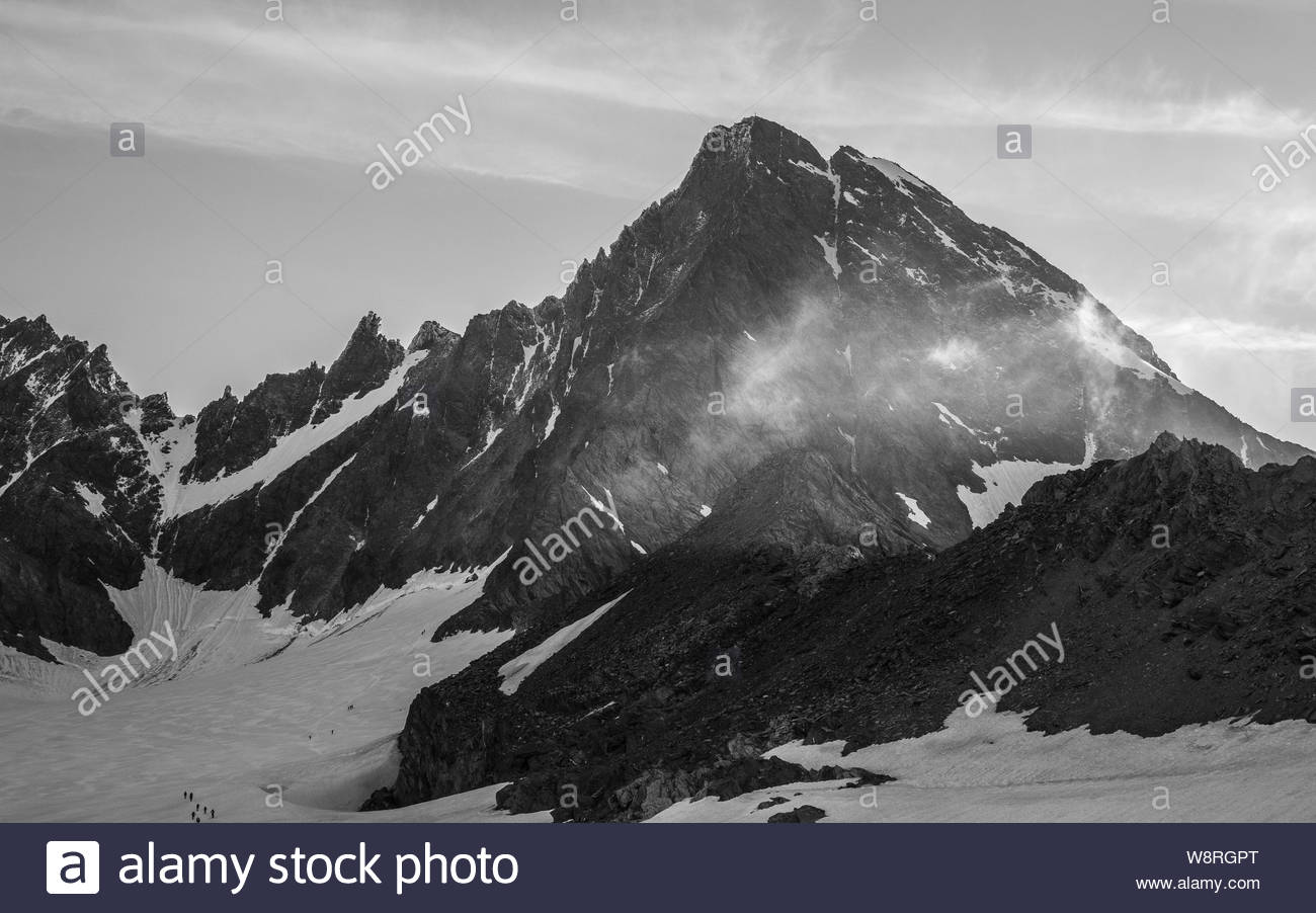 Grossglockner peak. Glocknergruppe. Austria. Stock Photo