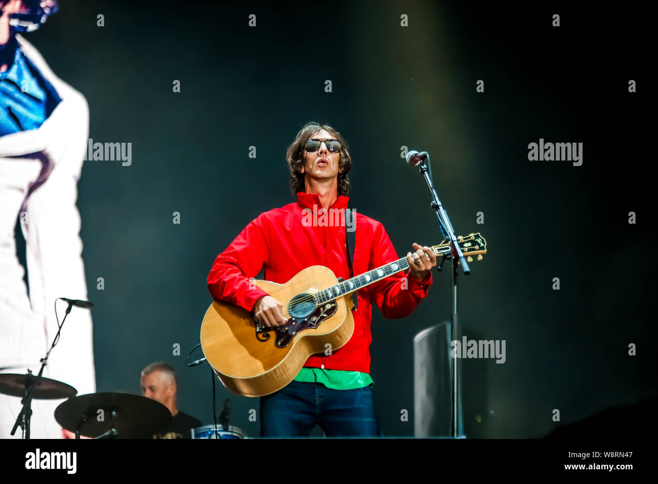 Richard Ashcroft, English singer and songwriter, previously leader of the band The Verve, performed on the main stage of Sziget Festival during the second day of the event. (Photo by Luigi Rizzo / Pacific Press) Stock Photo
