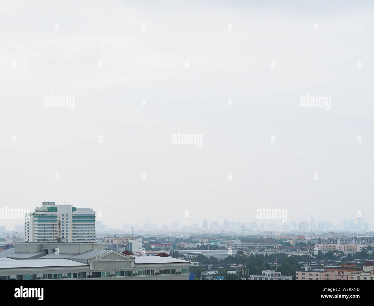 City skyline aerial view. Cityscape of capital of Bangkok, Cityscape in  Bangkok Stock Photo