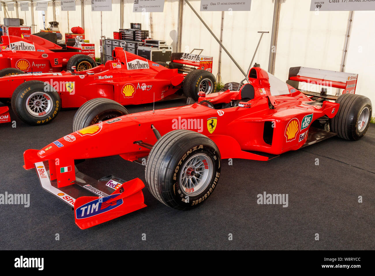 Michael Schumacher S World Championship Winning Ferrari F1 2000 In The Paddock Garage At The 2019 Goodwood Festival Of Speed Sussex Uk Stock Photo Alamy