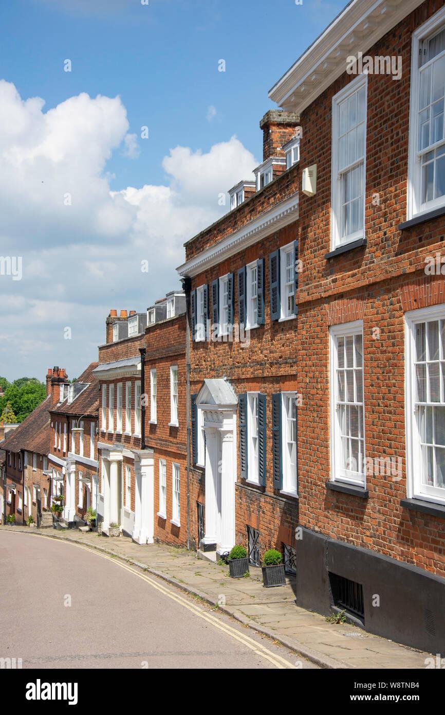 Period houses, Fore Street, Old Hatfield, Hatfield, Hertfordshire, England, United Kingdom Stock Photo