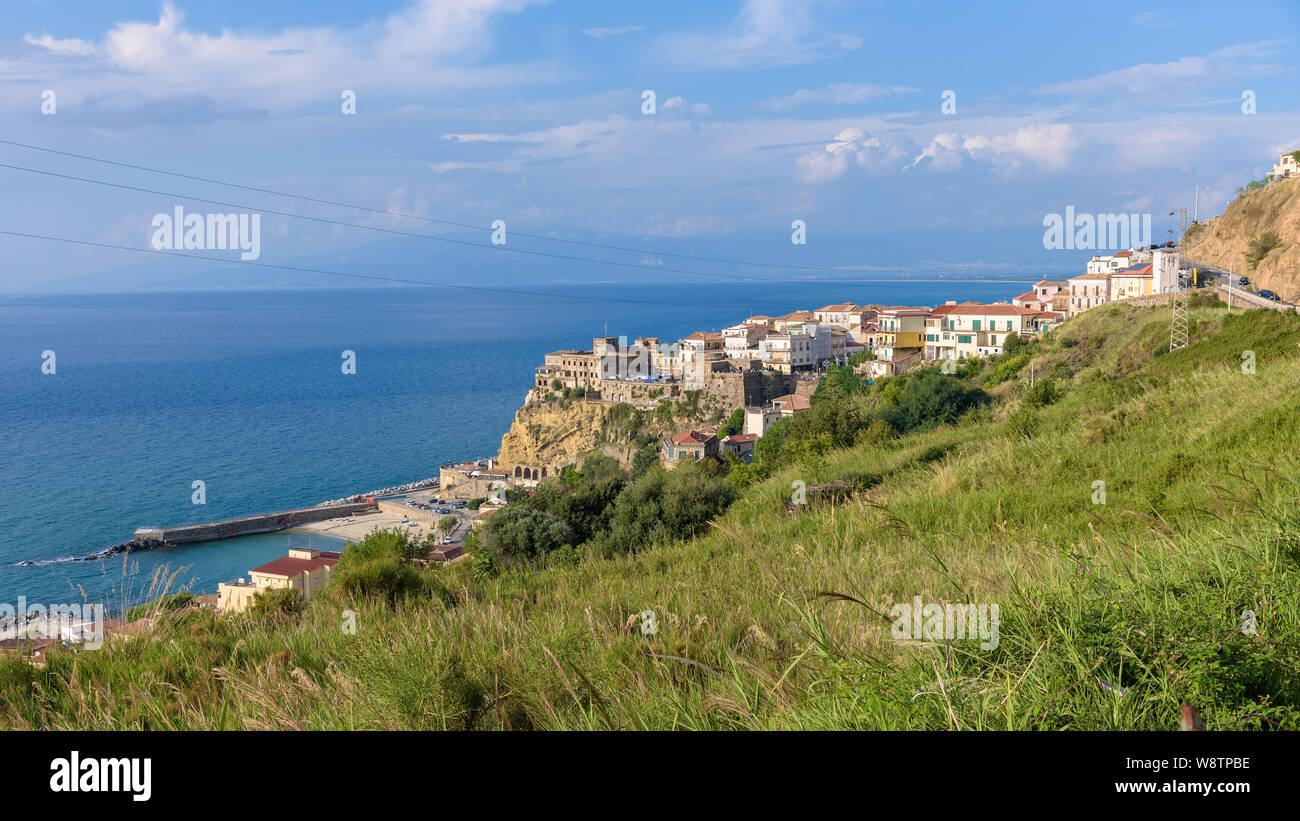 Aerial view of Pizzo town in Calabria, southern Italy Stock Photo