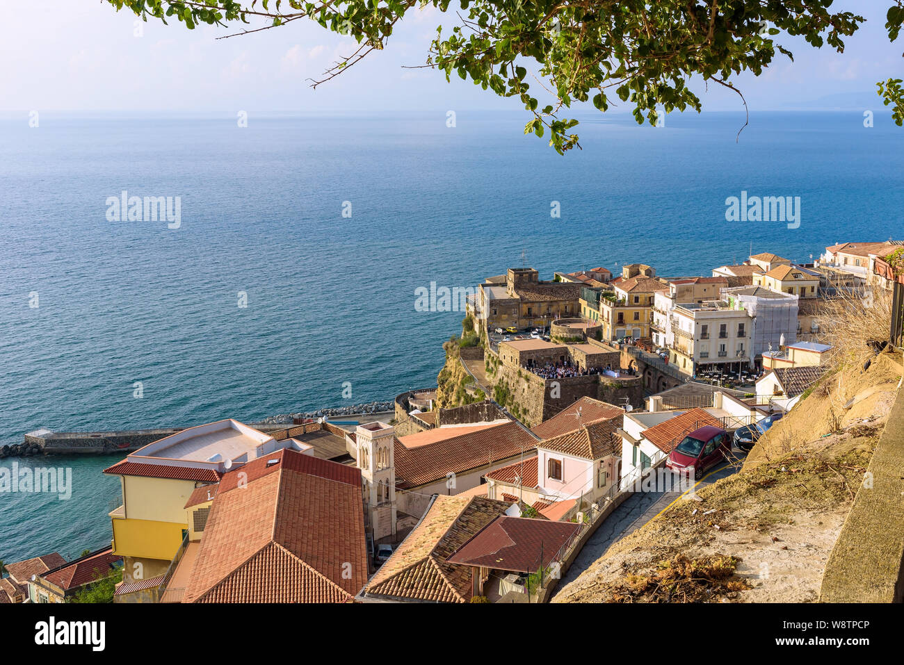 Aerial view of rooftops of Pizzo town in Calabria, southern Italy Stock Photo