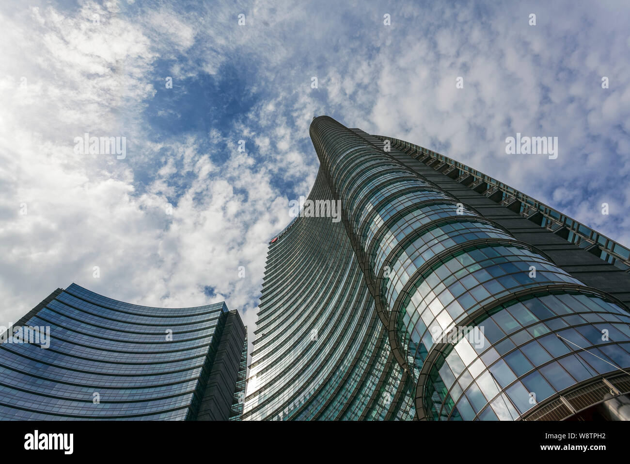 UniCredit Tower, headquarters of the Italian bank UniCredit, Milan, Lombardy, Italy Stock Photo