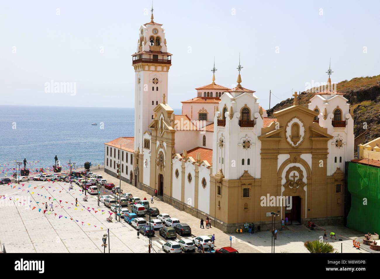 Basilica of Candelaria, Santa Cruz de Tenerife, Canary Islands, Spain Stock Photo