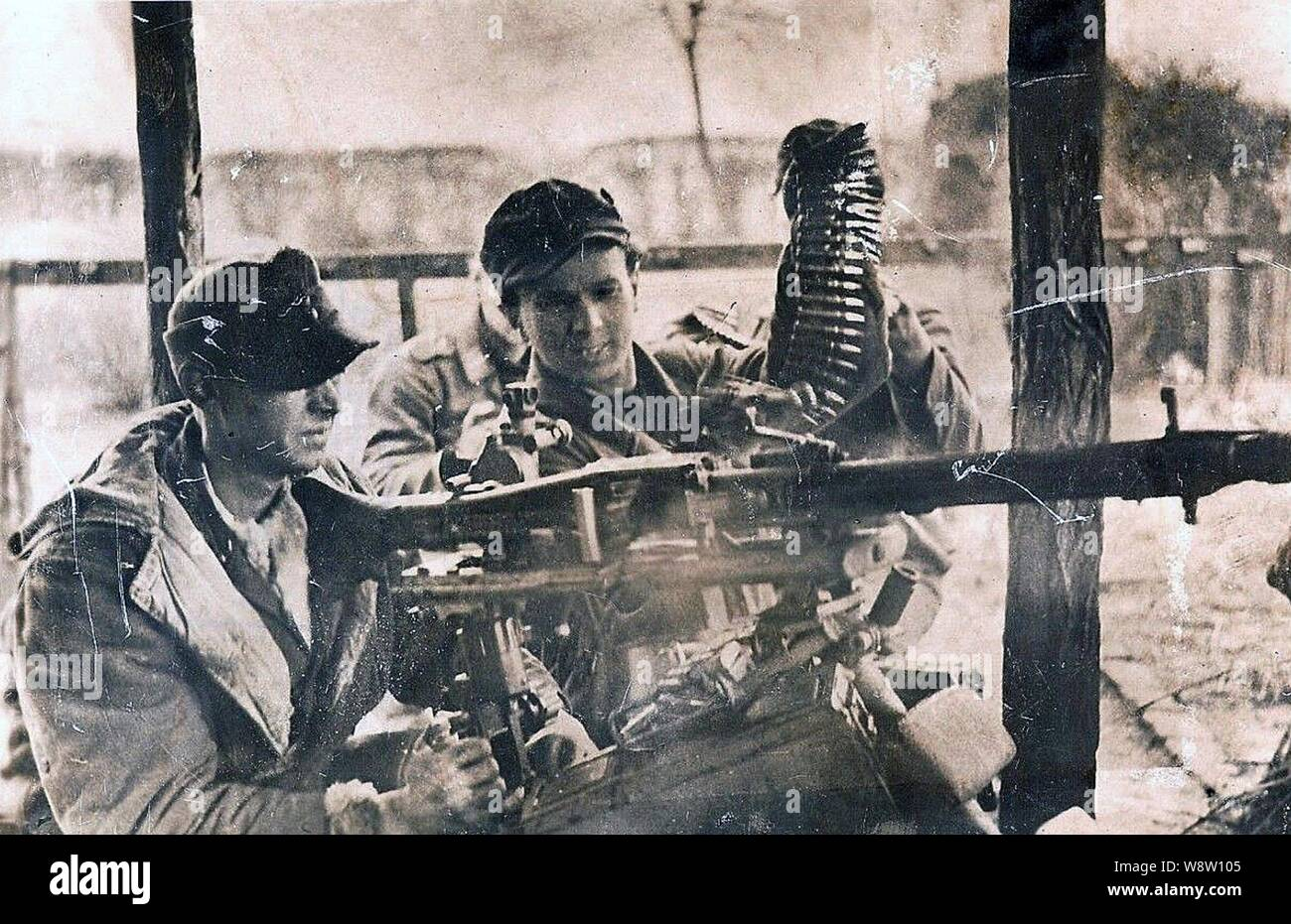 German Machine Guns 1945 Stock Photos & German Machine Guns