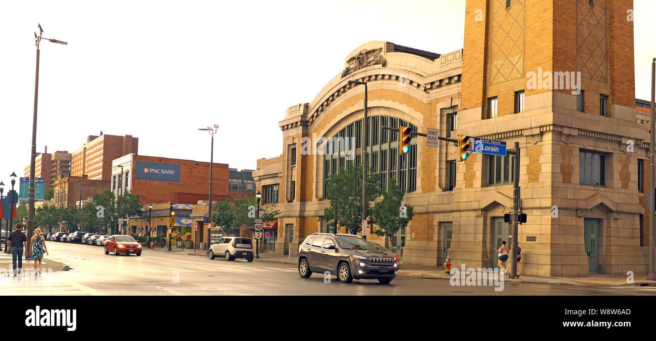 Cleveland Ohio Streetscape Stock Photos & Cleveland Ohio