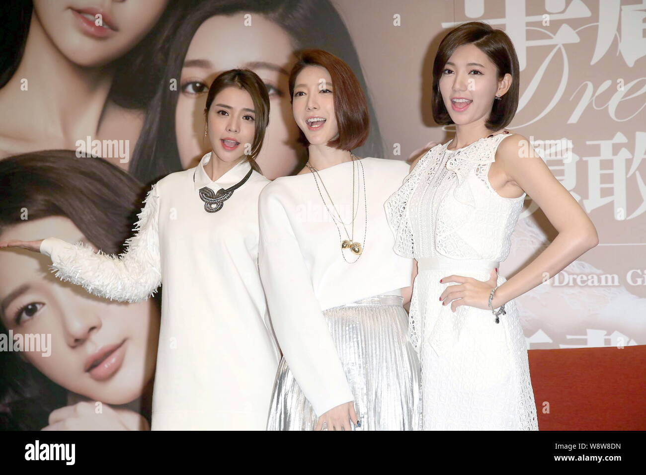 From left) Tia Lee, Emily Song and Puff Guo of Taiwanese