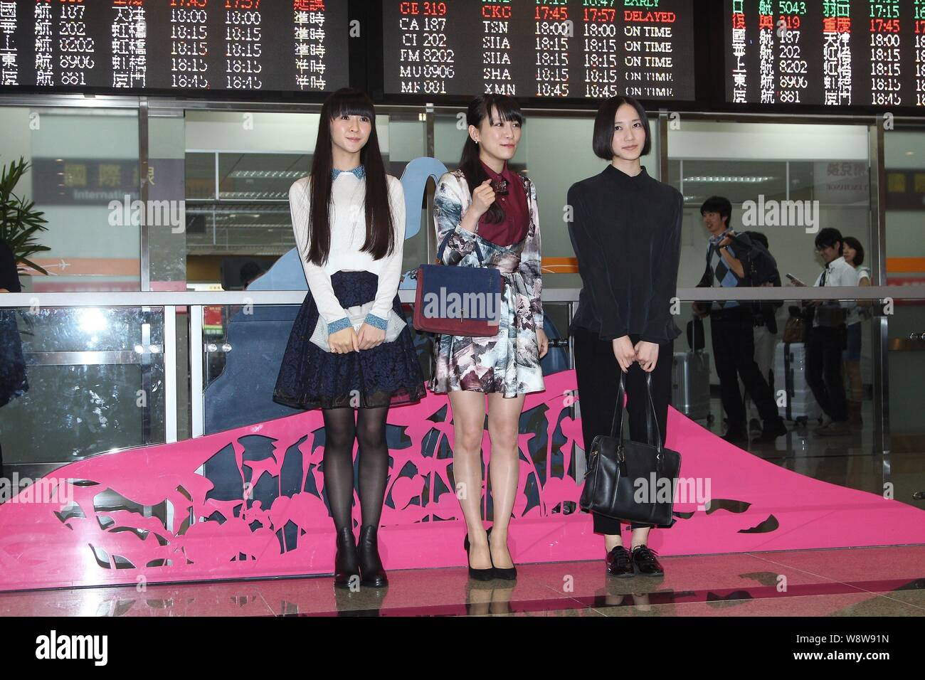 From left) Yuka Kashino, Ayaka Nishiwaki and Ayano Omoto of