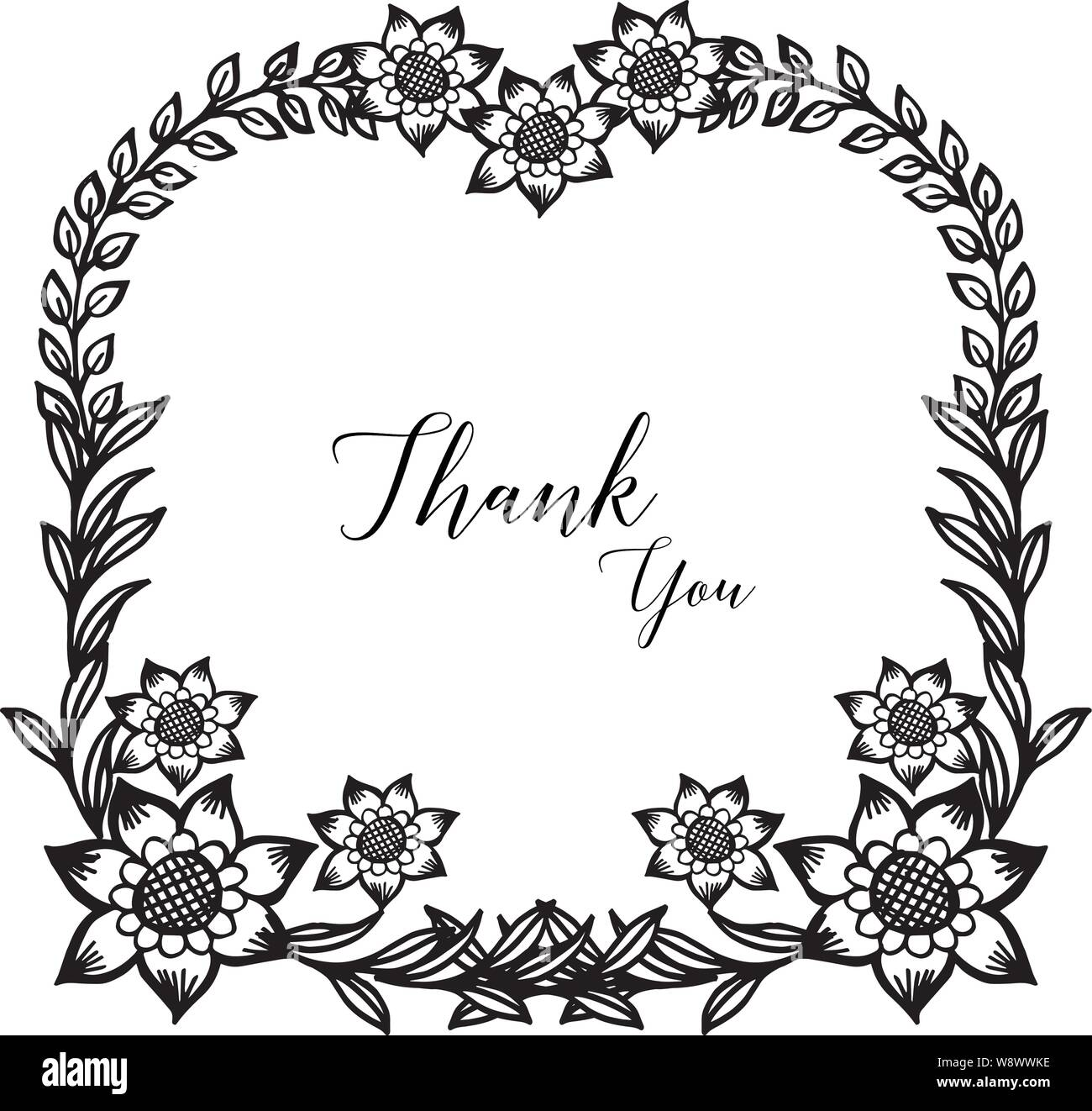 Wallpaper Of Card Thank You Ornate Of Beautiful Floral