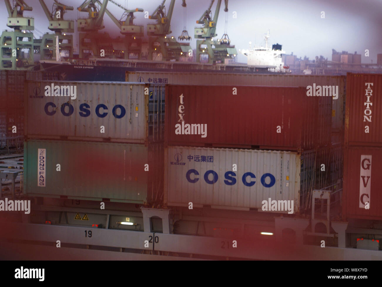 FILE--Containers of COSCO (China Ocean Shipping (Group